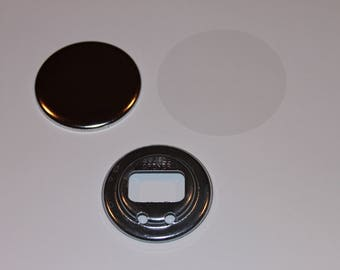 "2.25 Inch Bottle Opener - 50 Complete Button Sets - Tecre Button Press - Bottle Opener Buttons - 2.25"" Button Maker Machine Supplies"