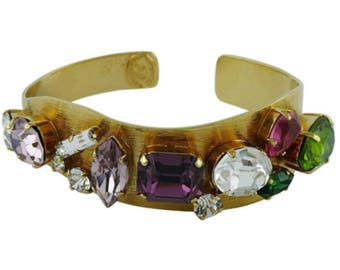 CHRISTIAN LACROIX * Christian Lacroix Vintage Jewelled Bangle Bracelet