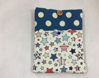 Spots and stars iPad /tablet case, fabric tablet sleeve, soft tablet case, padded tablet case,tablet/iPad case for man, iPad cover