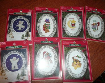 Holiday Time Christmas Lace Ornaments Kits
