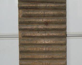 Antique Primitive Hand Carved Wooden Washboard RARE