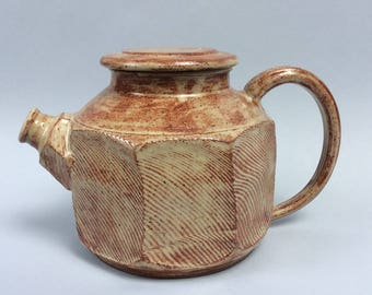 Stoneware Teapot With Facets