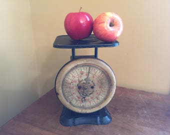 Antique Pelouze Scale/Vintage Kitchen Scale/Vintage Farmhouse Decor/Primitive Kitchen Decor