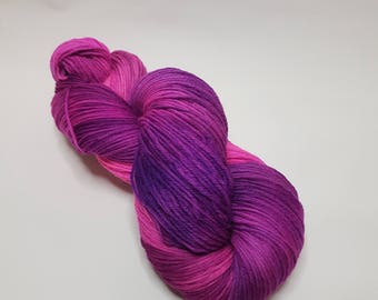 Hand dyed Wool Nylon yarn, 6-ply, sport weight, 150g, ONLY ONE, sock yarn