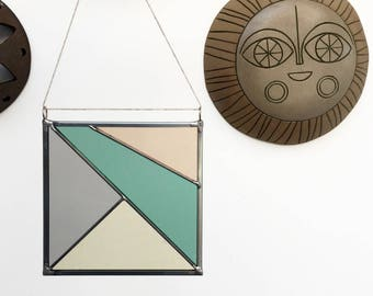 Square Stained Glass Panel - Pastel