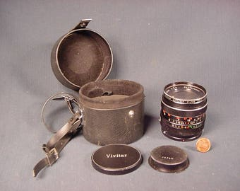 Vintage Old Collectible * Camera Equipment * Lens Vivitar Auto Wide Angle 28mm 1:2.8 Skylight Filter