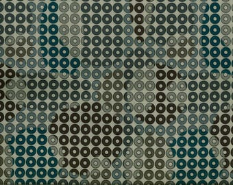 Fabric circles / dots blue-grey background grisS