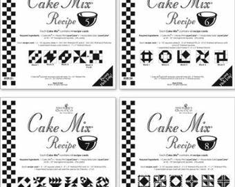 Cake Mix Recipes by Moda- Each Recipe contains 44 Papers to Piece- Mixes #5-8