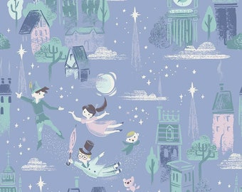 1 Yard Neverland by JIll Howarth for Riley Blake Designs- 6570 Periwinkle Main