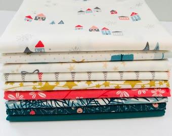 1/2 Yard Bundle Little Town by Amy Sinibaldi for Art Gallery Fabrics- Gifted- 9 Fabrics