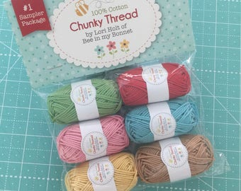 Lori Holt Chunky Thread Sampler Pack- 10g 6 Skein Pack