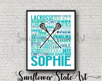 Personalized Lacrosse Poster, Gift For Lacrosse Player, Lacrosse Gift Ideas, Lacrosse Gift Typography, Lacrosse Team Gift, Lacrosse Print