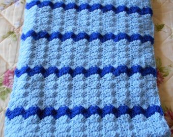 Blue Crochet Afghan