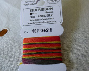 House of Embroidery collar 48 FREESIA c 4mm Silk Ribbon