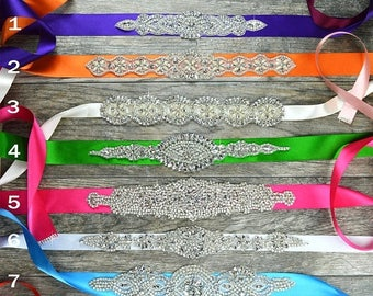 60% OFF Bridesmaid / Prom / Wedding - Luxurious Crystal Belt - Rhinestone Embellishment Sash Jeweled Bridal Dress Applique