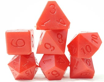 Perfect Plastic Dice - RAW - Red