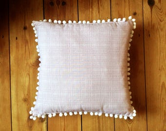 Pom Poms // Mid Century Modern // Geometric // Scatter Cushion // Dusty Pink // 2017 // Cushion Cover // Pillow // Decorative Cushion //
