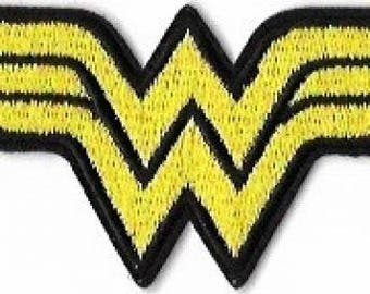 Wonder Woman Logo Embroidered Patch / Iron On Applique, Superhero, Girl Power, DC Comics