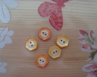 5 small old Pearly buttons