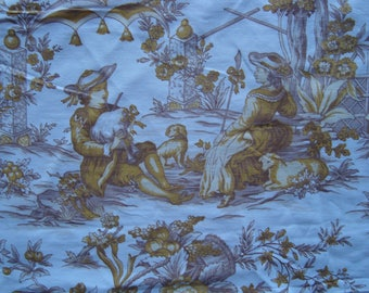 Fabric canvas of jouy, characters and scenery