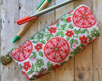 Pen and Pencil Pouch in Floral Kitsch