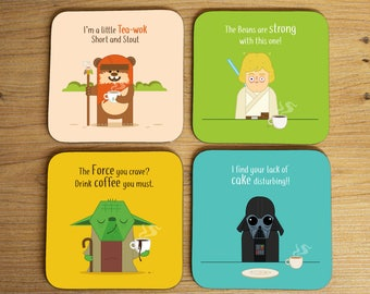 Set of 4 Coasters - The Force