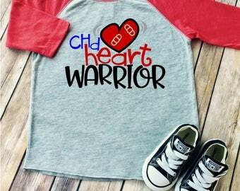 CHD Awareness Shirt | Heart Warrior Raglan Shirt | Toddler CHD shirt | Congenital Heart Defect Shirt | Heart Warrior shirt