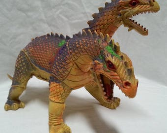 Vintage Two Headed Dragon Toy Fantasy Action Figure Imperial 1984