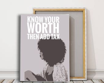 Know Your Worth Canvas Print