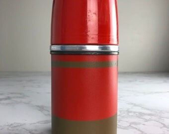 Vintage Ecomony Metal Thermos