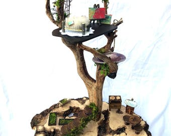 Fairy House, Treehouse, Dollhouse, Natural Toys, Waldorf