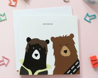 bromance card, valentines day card, birthday card