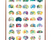 "Brain Art Poster - 16"" x 20"" Wall Art - LIMITED PRINT RUN - Thoughtful and Colorful Neurology, Neuroscience and Psychology Gift by J. Sayuri"