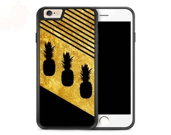 Gold Pineapples Case for iPhone 7 iPhone 7 Plus iPhone 6s iPhone 6s Plus iPhone 6 iPhone 6 Plus iPhone SE iPhone 5s iPhone 5c iPhone 4s