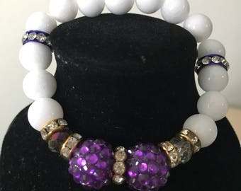 Candy beaded bracelet - purple and blue available