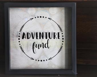 Travel Fund, Honeymoon Fund, Shadow Box Bank, Piggy Bank, Adventure Fund, Travel Fund, Money Bank, Shadow Box, Money Dance, Tattoo Fund