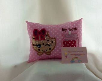 Tooth fairy pillow cookie cookie shopkins inspired
