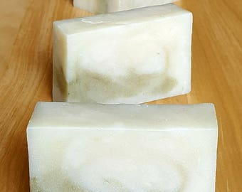 """Handcrafted Kudzu Root Infused Soap with Bentonite and French Green Clays """"Karma Chameleon"""""""