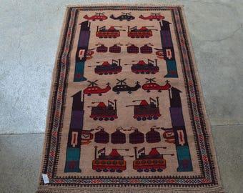 Vintage Afghan War Carpet
