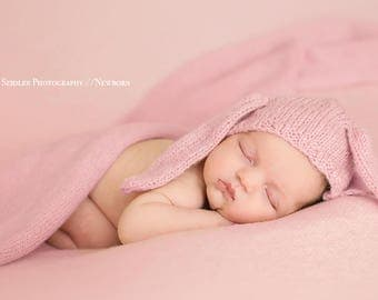 Wrap made with knitting machine Newborn Photography