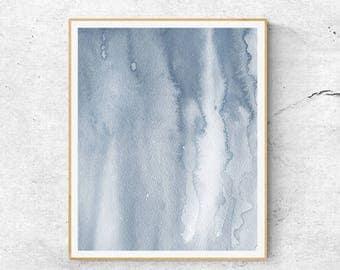 Blue Watercolor  Abstract Art, Watercolor Wall Art, Sky Print, Blue Abstract Art, Abstract Watercolor Art, Pastel Art, Fine Art Print