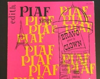 Rare 1954 LP Bravo les clowns by Edith Piaf
