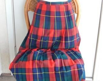 Tartan Size 12 Pleated Skirt