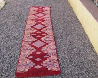 moroccan red runner Lozenge berber moroccan rug  Authentic  Moroccan  Rug Wool  azilal Moroccan rug Kilim