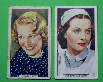Vintage Cigarette Card Gallaher Ltd Film Stars My Favourite Part 1939 Have 2/48 for Sale Excellent-Average Condition