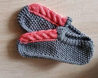 slipper socks knitted slippers knit socks wool women hand knit slippers gift for her