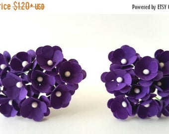 30% OFF Small purple flowers / violet paper flowers / purple paper flowers / mini purple paper flowers / mini paper flowers purple