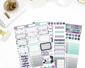 August Blossom Weekly Kit Stickers! Perfect for your Erin Condren Life Planner, calendar, Paper Plum, Filofax!
