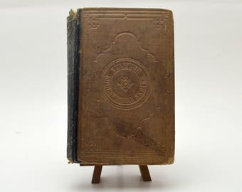 McGuffey's New Sixth Eclectic Reader, 19th Century School Book, Antique Text Book, 1860s
