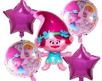 Rolls Cartoon Foil Inflatable Balloon Kids Birthday Party Decoration Helium Balloons Toys Baby Shower Happy Birthday Favors Pack of 5